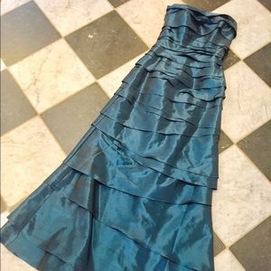 Metallic blue gown